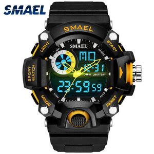 新品 Red ミリタリー Black 腕時計 男性 LED SMAEL メンズ 腕時計 スポーツ腕時計 アナログウォAY71
