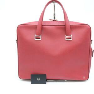 【美品】dunhill ダンヒル ボードン ビジネスバッグ 書類 ブリーフ 赤 レッド レザー L3S181R