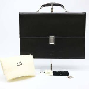 dunhill ダンヒル ビジネスバッグ バッグ LT6000A ブリーフケース 書類鞄 メンズ 紳士 ダークブラウン レザー