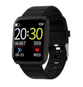 運動 血圧 健康管理 スマートウォッチ 腕時計 心拍数 リマインダー SNS ブラック×ブラック 防水 android/iphone 日本語対応