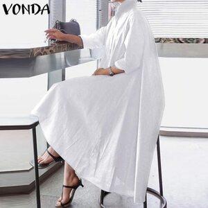 レディース ワンピース ロングスカート 40代 きれいめ 大きいサイズ 50代 コットン シャツワンピ