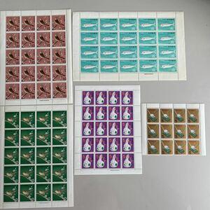 記念切手 シートとブロック