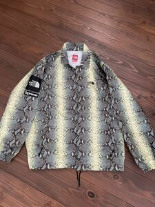SUPREME×THE NORTH FACE]18SS SNAKESKIN COACHES JACKET スネークSサイズ レターパック送料込み