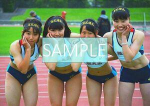 R115 生写真 レーシングブルマ 女子 陸上 L判 L版 女子アスリート 高画質 グラビア スポーツ
