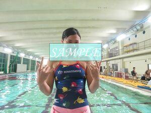 S2 生写真 水泳 水着 スク水 競泳水着 女子 L判 L版 女子アスリート 高画質 グラビア スポーツ