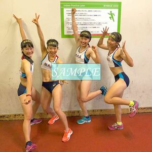 R32 生写真 レーシングブルマ 女子 陸上 L判 L版 女子アスリート 高画質 グラビア スポーツ