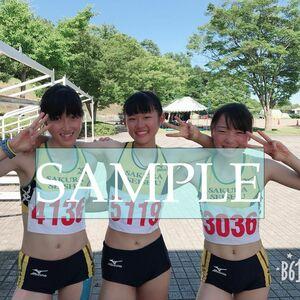 R154 生写真 レーシングブルマ 女子 陸上 L判 L版 女子アスリート 高画質 グラビア スポーツ