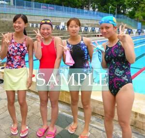 S35 生写真 水泳 水着 スク水 競泳水着 女子 L判 L版 女子アスリート 高画質 グラビア スポーツ