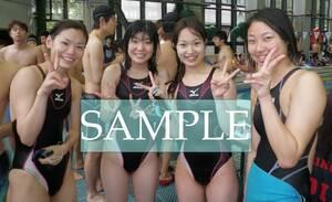 S38 生写真 水泳 水着 スク水 競泳水着 女子 L判 L版 女子アスリート 高画質 グラビア スポーツ