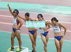 R7 生写真 レーシングブルマ 女子 陸上 L判 L版 女子アスリート 高画質 グラビア スポーツ