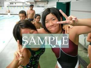 S40 生写真 水泳 水着 スク水 競泳水着 女子 L判 L版 女子アスリート 高画質 グラビア スポーツ