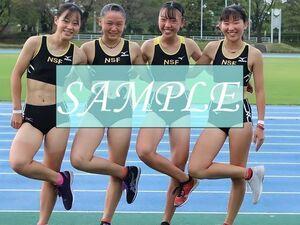 R42 生写真 レーシングブルマ 女子 陸上 L判 L版 女子アスリート 高画質 グラビア スポーツ