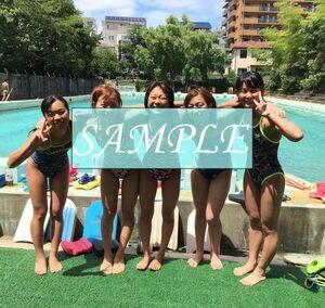 S11 生写真 水泳 水着 スク水 競泳水着 女子 L判 L版 女子アスリート 高画質 グラビア スポーツ