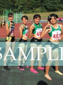 R147 生写真 レーシングブルマ 女子 陸上 L判 L版 女子アスリート 高画質 グラビア スポーツ