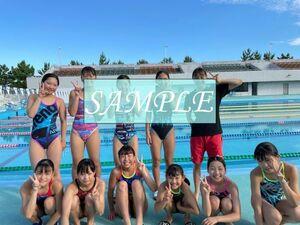 S10 生写真 水泳 水着 スク水 競泳水着 女子 L判 L版 女子アスリート 高画質 グラビア スポーツ
