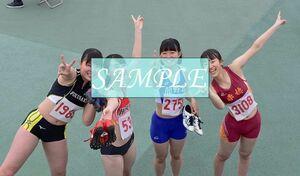 R17 生写真 レーシングブルマ 女子 陸上 L判 L版 女子アスリート 高画質 グラビア スポーツ