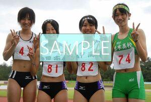 R78 生写真 レーシングブルマ 女子 陸上 L判 L版 女子アスリート 高画質 グラビア スポーツ