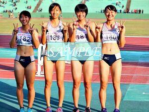R46 生写真 レーシングブルマ 女子 陸上 L判 L版 女子アスリート 高画質 グラビア スポーツ