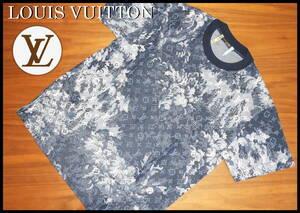 LOUIS VUITTON タペストリーモノグラム Tシャツ ルイヴィトン 総柄 LV ネイビー メンズ S 新作 美品 カットソー スニーカー ジャケット