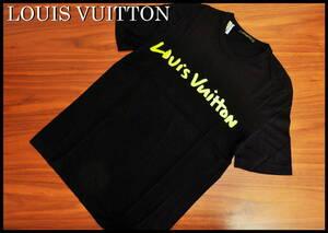 LOUIS VUITTON 蛍光ロゴ Tシャツ ルイヴィトン イエロー ブラック 国内正規品 メンズ S 黒 黄色 半袖 即完売 レア モノグラム グラフィット