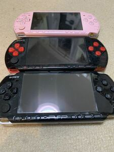SONY ソニー psp3000 3台セット PSP本体 レッド ピンク PlayStation Portable PSP ジャンク