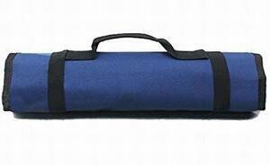 紺 【Rurumi】工具 道具 収納 ツール ロール バッグ 22 ポケット ケース ポーチ 袋 (紺)