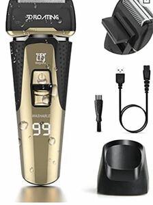 シェーバー メンズ 髭剃り 電気シェーバー人気 3枚刃 往復式 お風呂剃り可ひげそり乾湿両用 usb充電式 IPX7防水 水洗い可