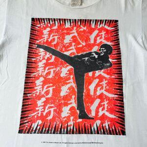 90s USA製 Mosquitohead モスキートヘッド ブルースリー シルクスクリーン 手刷り ビンテージ Tシャツ オリジナル 1996年 映画 功夫 少林寺