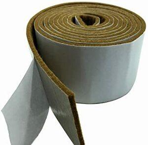 ブラウン Tetedeer 床のキズ防止テープ 自由にカットして使用可 幅5cm 長200cm (ブラウン)