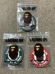 A BATHING APE BUSY WORKS RUBBER COASTER 3色セット コースター