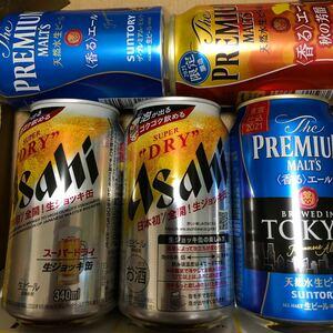 アサヒ 生ジョッキ缶 2缶 プレミアムモルツ 香るエール 3缶