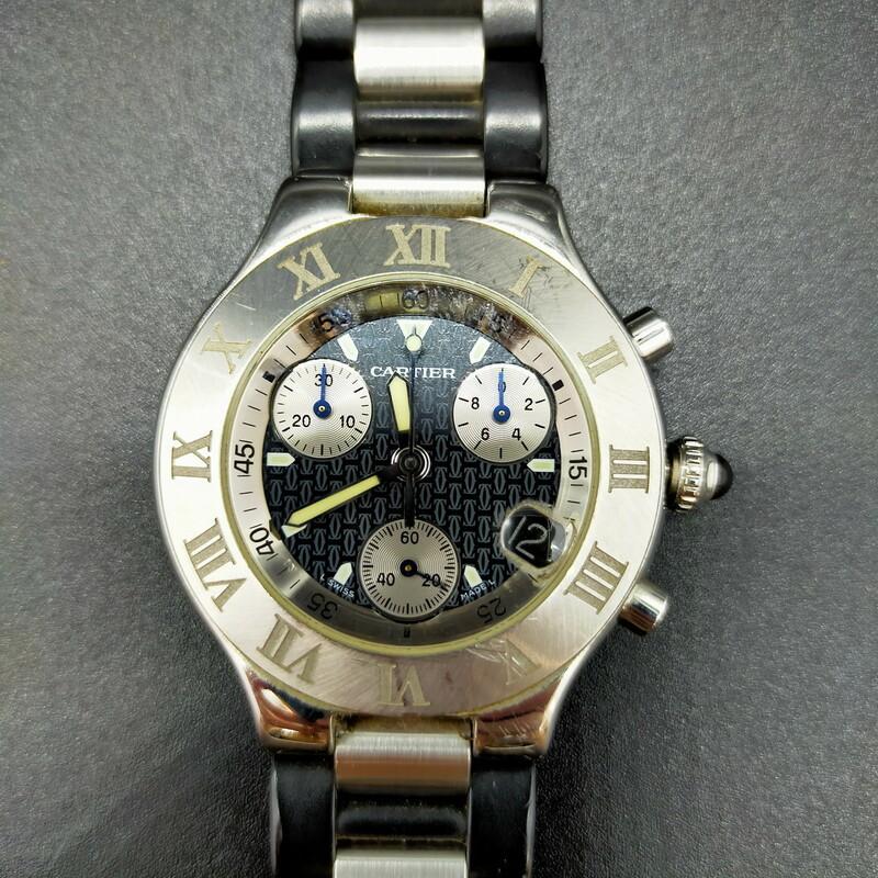 カルティエ Cartier 腕時計 動作品 2424 メンズ 1812107