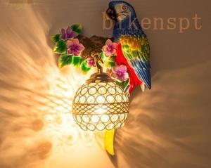 新入荷★高級感溢れる おうむ/鳥/動物/青い/ 壁掛け灯 玄関照明 間接照明 インテリア照明 洋風