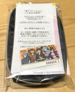 ★ 新品未開封★ エヴァンゲリオン × Worksonコラボ A.T.FIELD オリジナルポーチ+限定nanacoカード