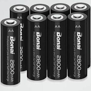 新品 好評 単3形 BONAI V-GT 自然放電抑制 環境友好タイプ 充電池 充電式ニッケル水素電池 8個パック(超大容量2800mAh