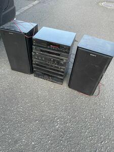システムコンポ SONY CDP-M55 スピーカー SS-V715AV 札幌手渡し可能 動作確認済み