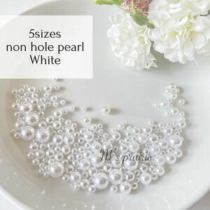 5サイズミックス ホワイト 白 10g 穴なしハンドメイド ハンドメイド 素材 ハンドメイドアクセサリー アクセサリーパーツ