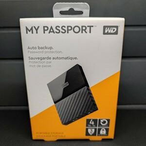WD東芝 MyPassport ハードウェア暗号化保護 4TB【超美品】ポータブルハードディスク外付けHDDブラック USB3.0