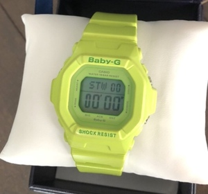 G-SHOCK BABY-G BG-5606 Energetic Colors ライム グリーン 蛙 生産終了 BG5606 シェア 共用 ベビーG ミニ CASIO