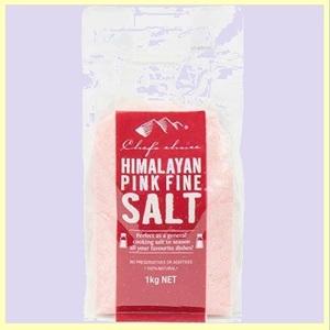 ☆★特別価格★☆新品☆未使用★ BRC認証ヒマラヤ岩塩 シェフズチョイス Y-LM Salt (2:ファインタイプ(細かめ)) 1kg Himalayan Pink