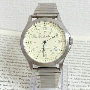 ★Columbia メンズ 腕時計 ★ コロンビア 3針 デイト シルバー 稼動品 F5620
