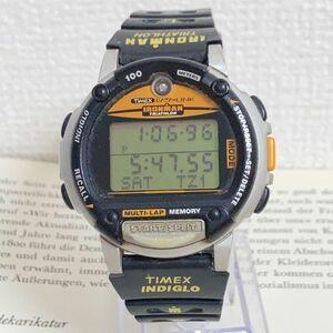 ★TIMEX IRONMAN TRIATHLON 多機能 腕時計★ タイメックス アイアンマン トライアスロン アラーム クロノ タイマー 稼動品 F5689