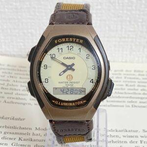 ★CASIO FORESTER ILLUMINATOR デジタル 多機能 腕時計 ★カシオ イルミネーター FT-600W 2針 アラーム クロノ 稼動品 F5697
