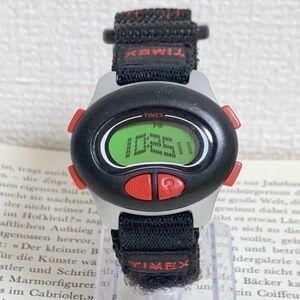 ★ TIMEX デジタル 多機能 腕時計 ★ タイメックス アラーム クロノ タイマー ブラック 稼動品 F5737