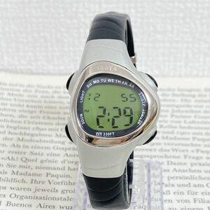 ★ DAKOTA デジタル 多機能 腕時計 ★ ダコタ アラーム クロノ タイマー シルバー 稼動品 F5802