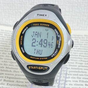 ★ TIMEX デジタル 多機能 メンズ 腕時計 ★ タイメックス アラーム クロノ タイマー シルバー 稼動品 F5813