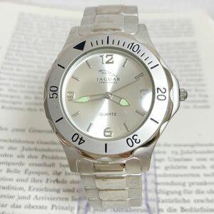 ★ JAGUAR メンズ 腕時計 ★ ジャガー 3針 逆回転防止ベゼル シルバー 稼動品 F5834