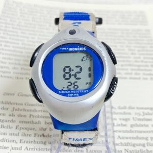 ★TIMEX IRONMANKIDS デジタル 多機能 腕時計 ★タイメックス アイアンキッズ アラーム クロノ タイマー シルバー 稼動品 F5846