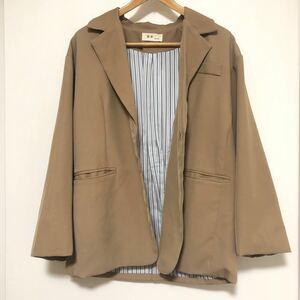 ジャケット 韓国 ブラウン テーラードジャケット