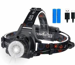 LEDライト USB充電式 12000ルーメン 防水 90°調整可能 防災 軽量 釣り作業 キャンプ用品